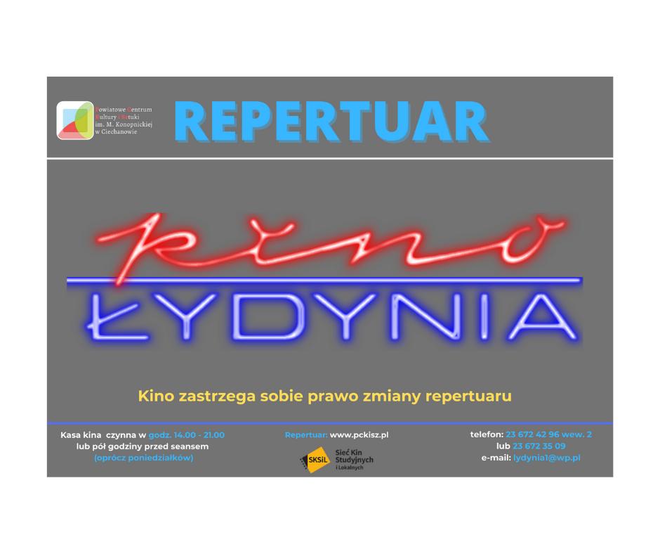 "Repertuar Kina ""Łydynia"" do 18 marca"