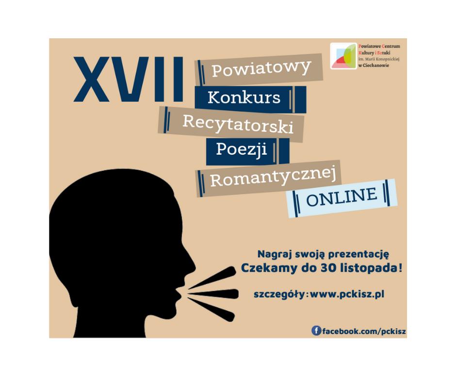 XVII Powiatowy Konkurs Recytatorski Poezji Romantycznej ONLINE